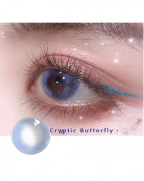 4icolor® Classic Blue Colored Contact Lenses Butterfly