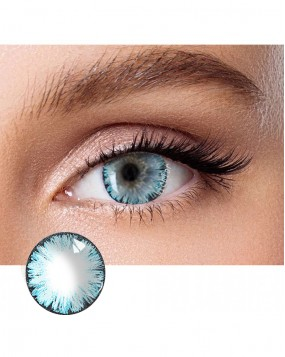 4ICOLOR®  One pair Big EYE Blue contacts lenses