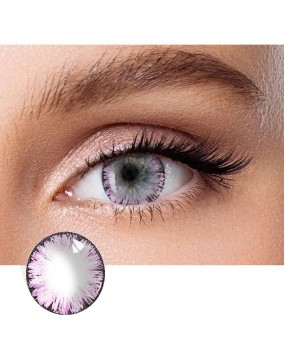 4ICOLOR® One pair Big EYE Pink contacts lenses