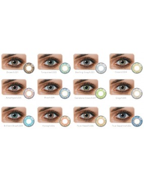 Women Multi Color Fresh Contact Lenses-Blue