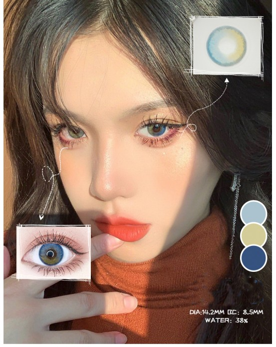 4icolor® 3 Tone colored contact lens Tierra