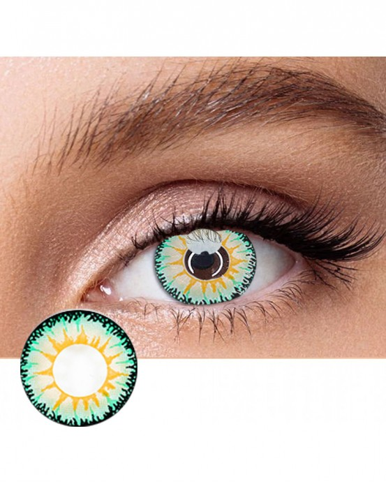 4icolor® Colored Contacts Sunshine Green