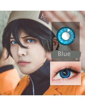 4ICOLOR® Cosplay contact lenses leaves Blue