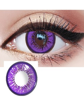4ICOLOR® Cosplay contact lenses leaves Purple