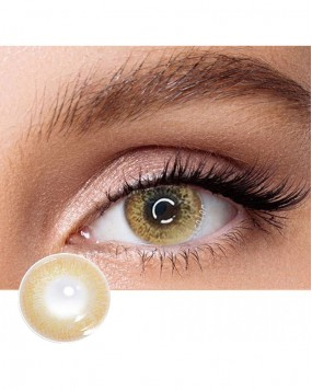 4ICOLOR  Colored Contacts Brown Iris Gold