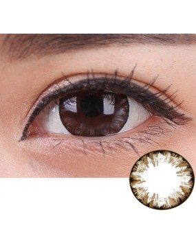Colored Big EYE  Contact lens Brown
