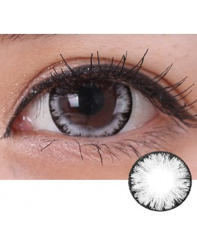 4ICOLOR® One pair Big EYE Grey contacts lenses
