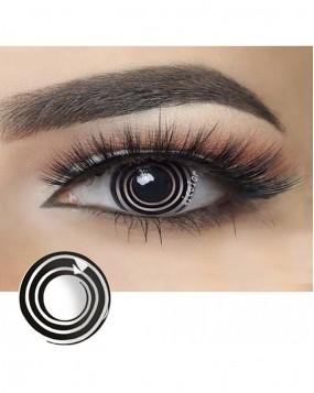 4ICOLOR® Colored contact Lenses Circle -Whiteblack
