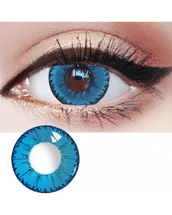 4ICOLOR® Mystery Blue Colored Contact Lenses B204 1pair