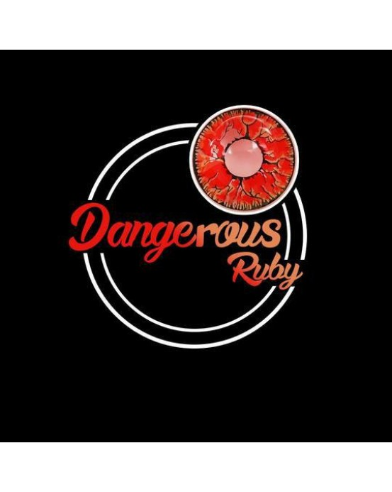 4icolor® Circle Red Les Dangerous Ruby Naruto R201