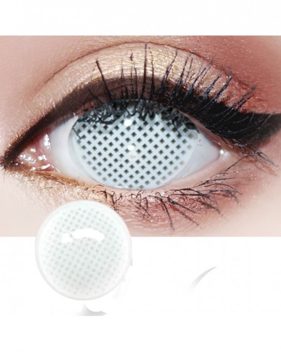 4icolor® Whole White Mesh Naruto Colored Contact Lenses W1021