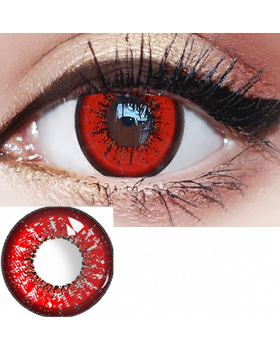 4ICOLOR ®Eye Circle Lens Akashi Seijuro Red Colored Contacts R206