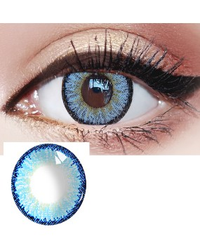 4ICOLOR®Ice Blue Colored Circle Contact Lenses one pair