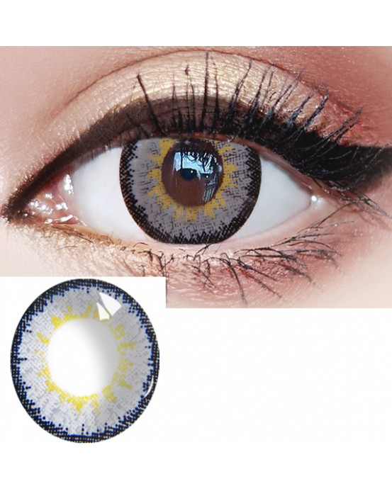 4ICOLOR®Ice Gray Colored Circle Contact Lenses one pair