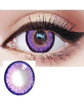 4ICOLOR® Ice purple Makuep red Colored Circle Contact Lenses one pair