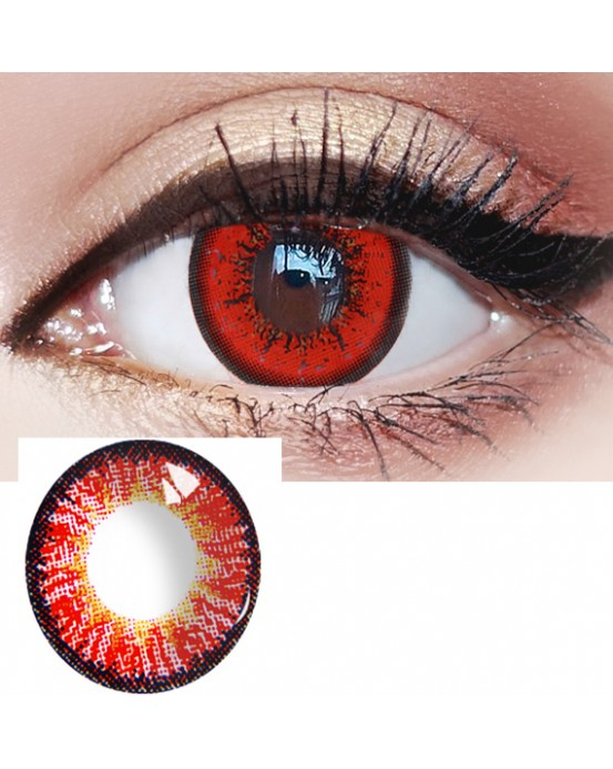 4ICOLOR® Red Ice Makuep Cosplay Contacts one pair