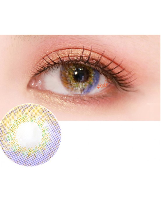 4ICOLOR MILKY  CONTACTS LENSES-PURPLE