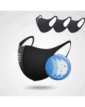 N95 CoronaVirus Face Mask 3 pairs with 10 fliters-black