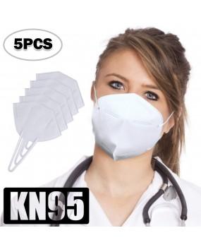 N95 Respirator coronavirus-face-mask 5 PCS White