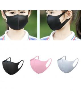 Kids Washable Face Mouth Mask Pure color Reusable Masks