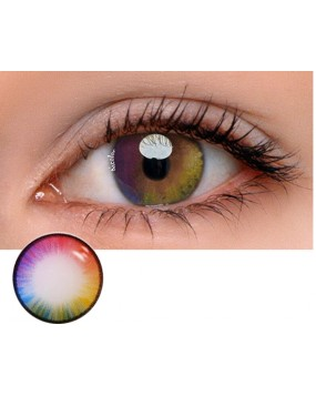 4ICOLOR®Colorful Rainbow Colored circle Contacts lenses